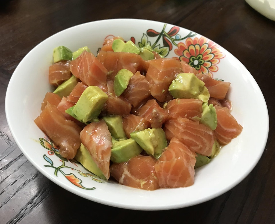 Simple Salmon Poke Bowl