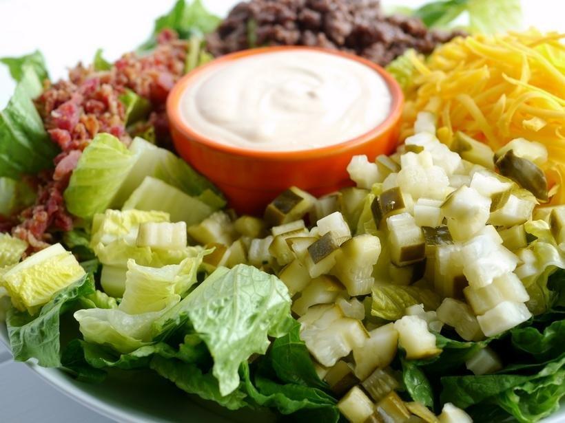 Low Carb Bacon Cheeseburger Salad