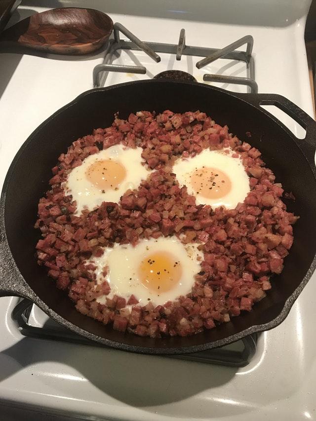 Keto Corned Beef Hash with Eggs