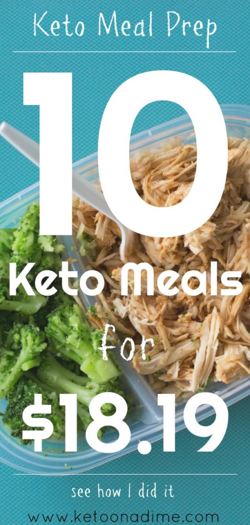Keto Meal Prep on a Budget: 10 Keto Meals for $18.19