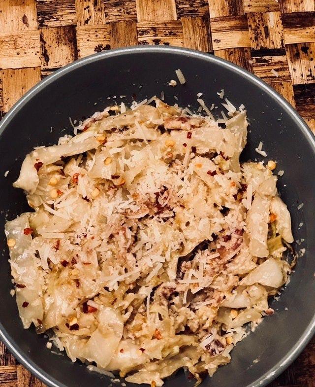 Pancetta and Cabbage Carbonara