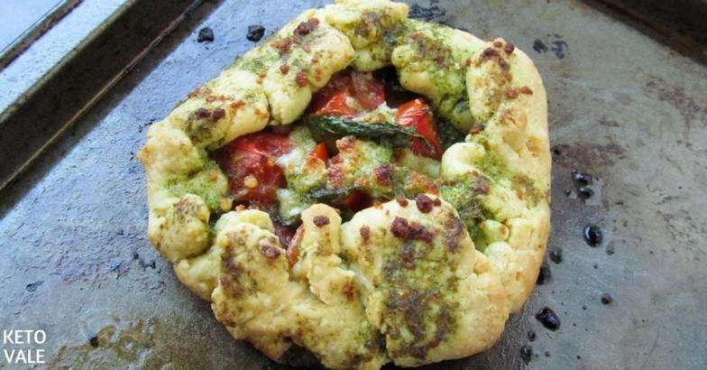 Tomato Basil and Cheese Savory Galette