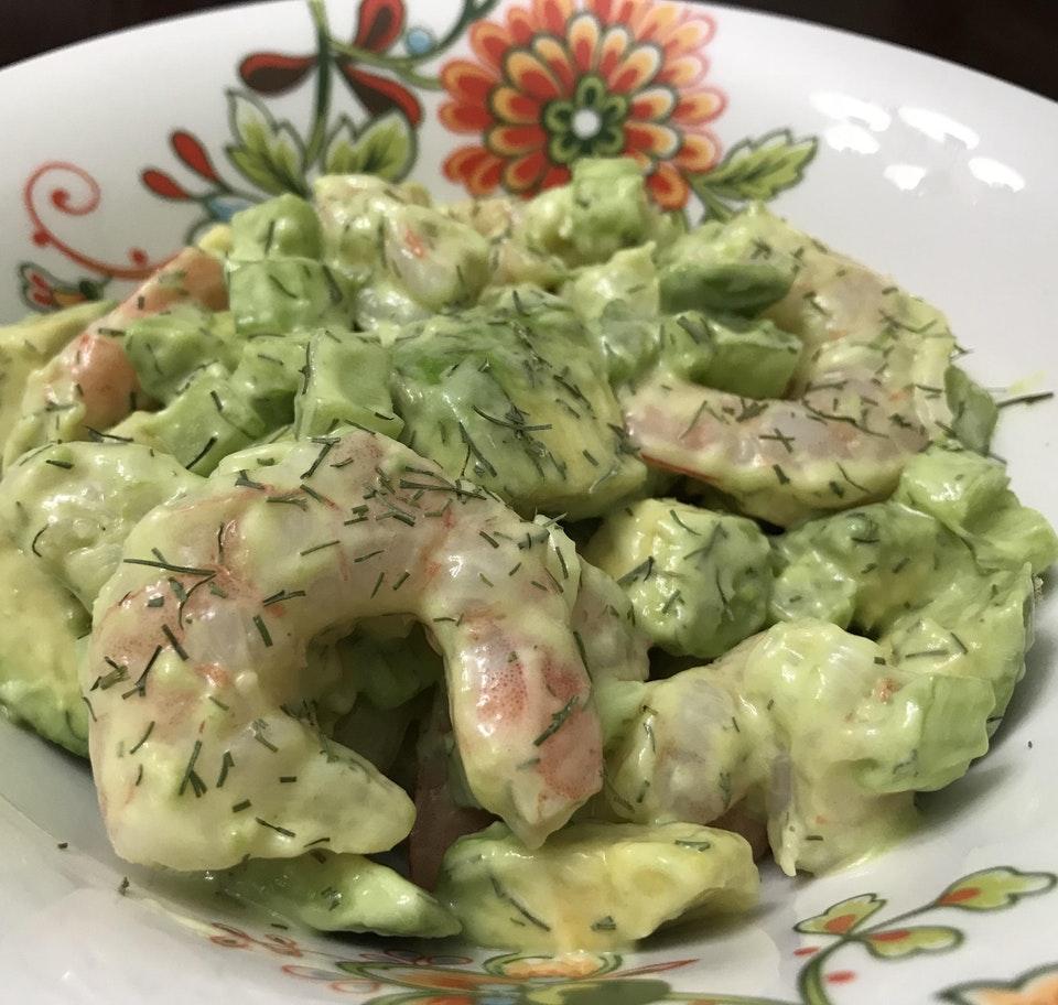 Simple Shrimp & Avocado Dill Salad