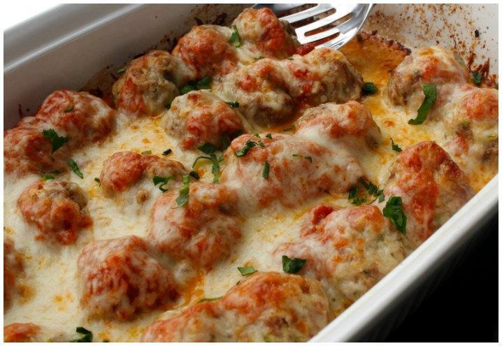 Meatball Casserole aka Meatball Parmesan