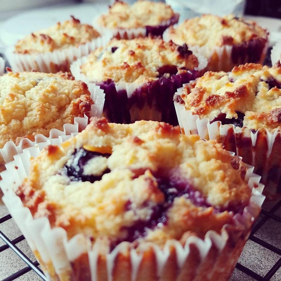 Summertime means Lemon Blueberry Muffins