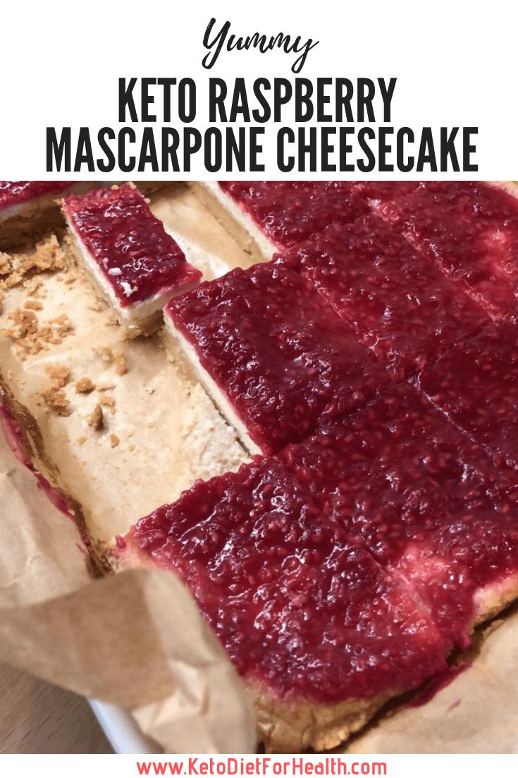 Keto Raspberry Mascarpone Cheesecake