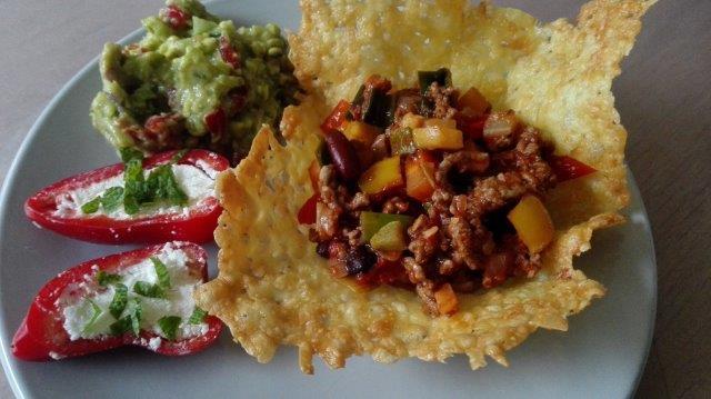 Kaasbakjes met Mexicaanse groenten