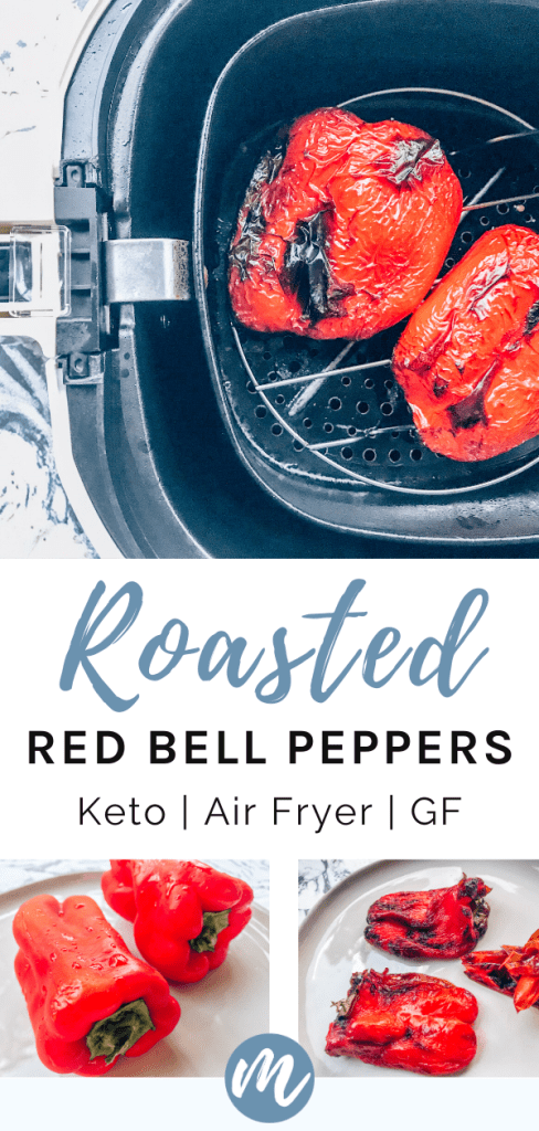 roasted peppers in an air fryer