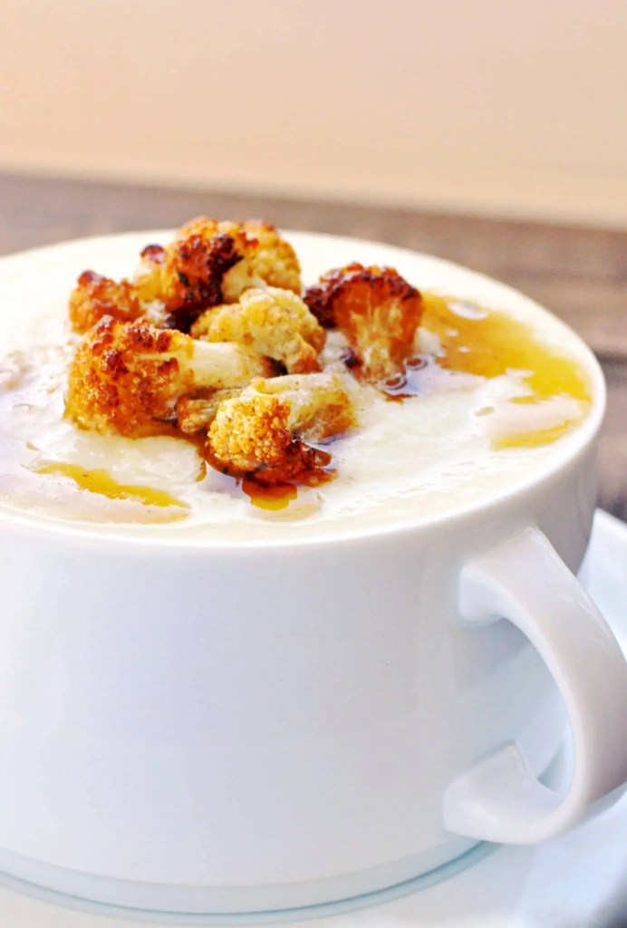 Cauliflower Parmesan Soup with Browned Butter - Low Carb, Keto Friendly, Gluten-Free