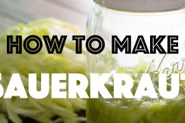 How to Make Sauerkraut | KETOGASM.com Only 2-ingredients needed: Cabbage & Salt! #lowcarb #keto #ketogenic #lchf #paleo #whole30 #cabbage #recipes #fermentation #gapsdiet #healthy #probiotic #video