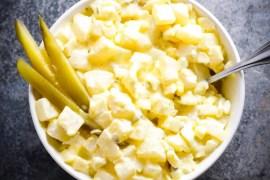 Turnip Fauxtato Salad [RECIPE]| KETOGASM.com #keto #lowcarb #turnip #recipe #lchf #ketogenic #ketosis #vegetarian keto recipes