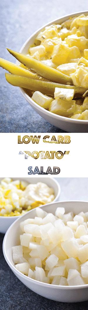 "Low Carb Keto ""Potato"" Salad - Turnip as Fauxtato Potato Substitute"