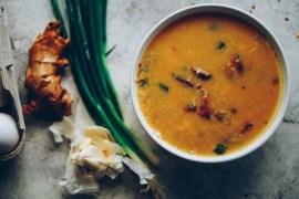 Bacon Egg Drop Soup [Video Recipe] #bacon #eggdrop #soup #keto #lchf #lowcarb #mynameisyeh #mollyyeh