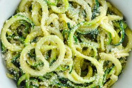 Zoodles with Browned Butter & Mizithra Cheese [Recipe] | KETOGASM #keto #ketogenic #ketosis #diet #recipes #zoodles #atkins #lowcarb #mizithra #cheese #browned #butter #zucchini #noodles #spaghetti #factory