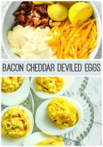 Bacon Cheddar Deviled Eggs for Keto Diet