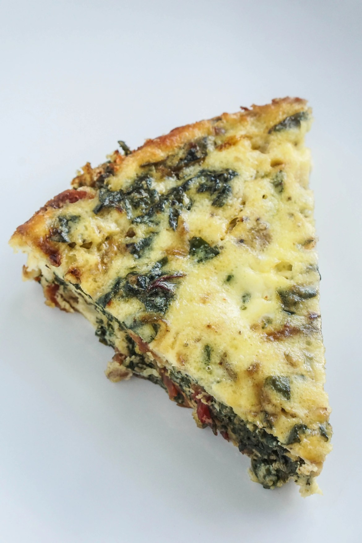 Bacon Red Chard Ricotta Frittata [Recipe] #keto #lowcarb #atkins #healthy