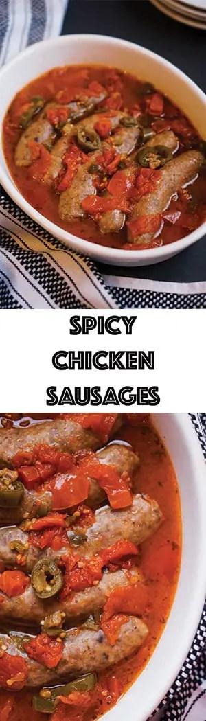 Easy Low Carb Spicy Chicken Sausages - Keto, Gluten Free, Sugar Free