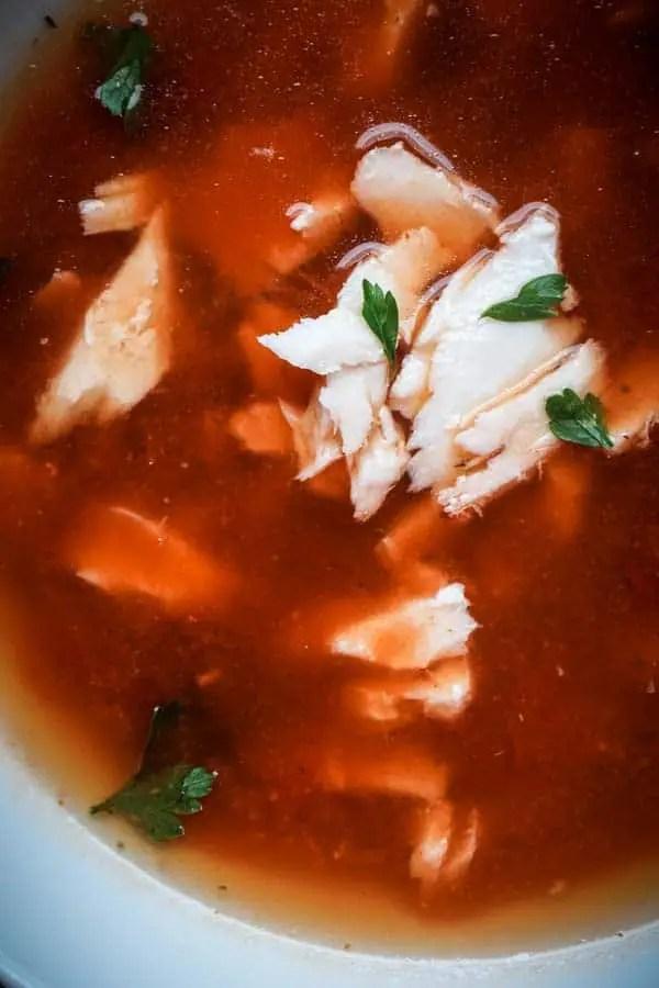 Spicy Halibut Soup Recipe aka Italian Halibut Chowder