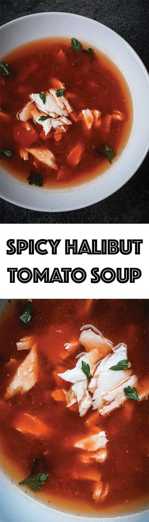 Spicy Halibut Tomato Soup Recipe - Italian Halibut Chowder