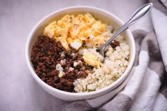 Low Carb Keto Breakfast Burrito Bowl Recipe
