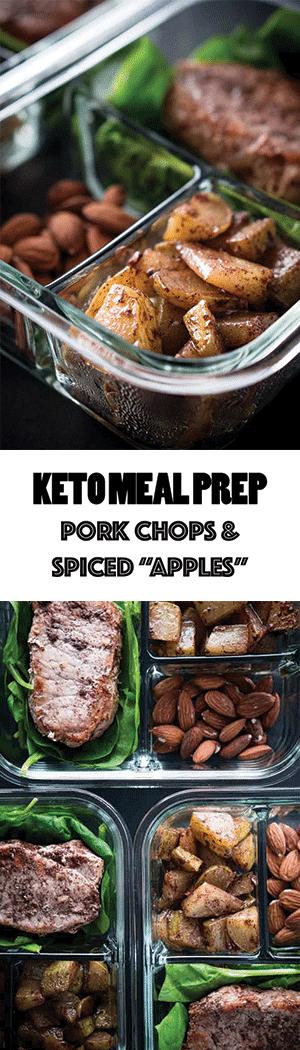 """Keto Meal Prep Recipe: Pork Chops & Spiced """"Apples"""""""