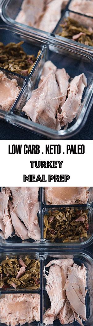 Low Carb Turkey Meal Prep - Healthy Keto & Paleo Leftover Ideas