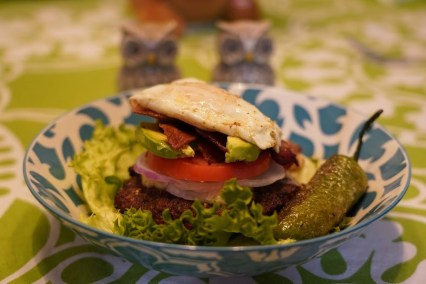 Keto lettuce wrap cheeseburger