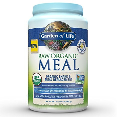 Garden of Life Meal Replacement - Organic Raw Plant Based Protein Powder - Vanilla