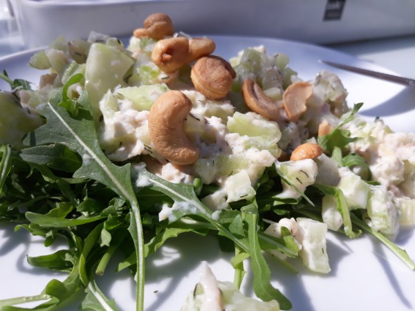 salade van selder en forel
