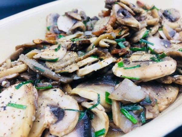 Warme champignonsalade