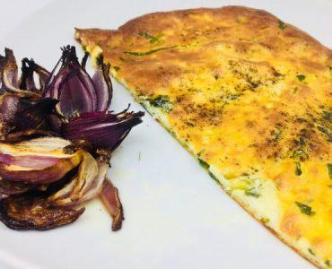 platbrood met spinazie en kaas
