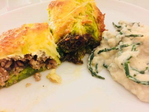 enchilada met groene kool