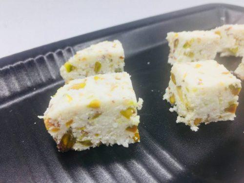 gebakje van kokos met pistachenoten