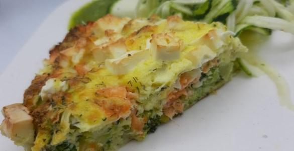keto quiche zalm broccoli