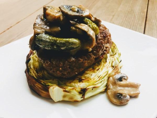 hamburger met witte kool