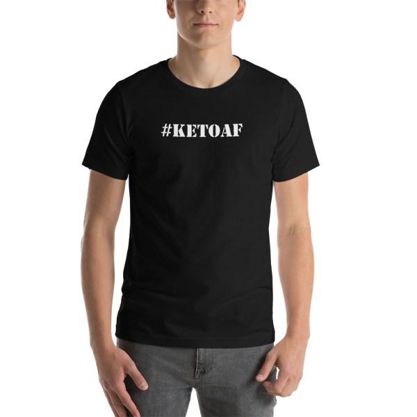 Stencil #KETOAF (white) - Unisex Short-Sleeve T-Shirt 1
