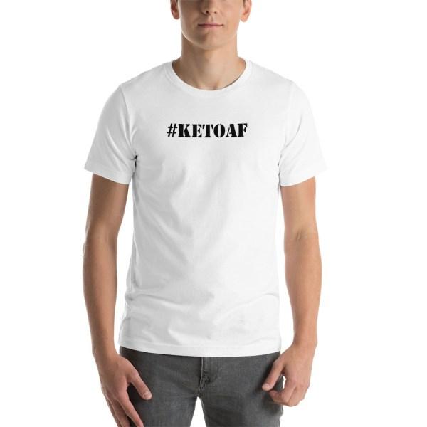 Stencil #KETOAF (black) - Unisex Short-Sleeve T-Shirt 1