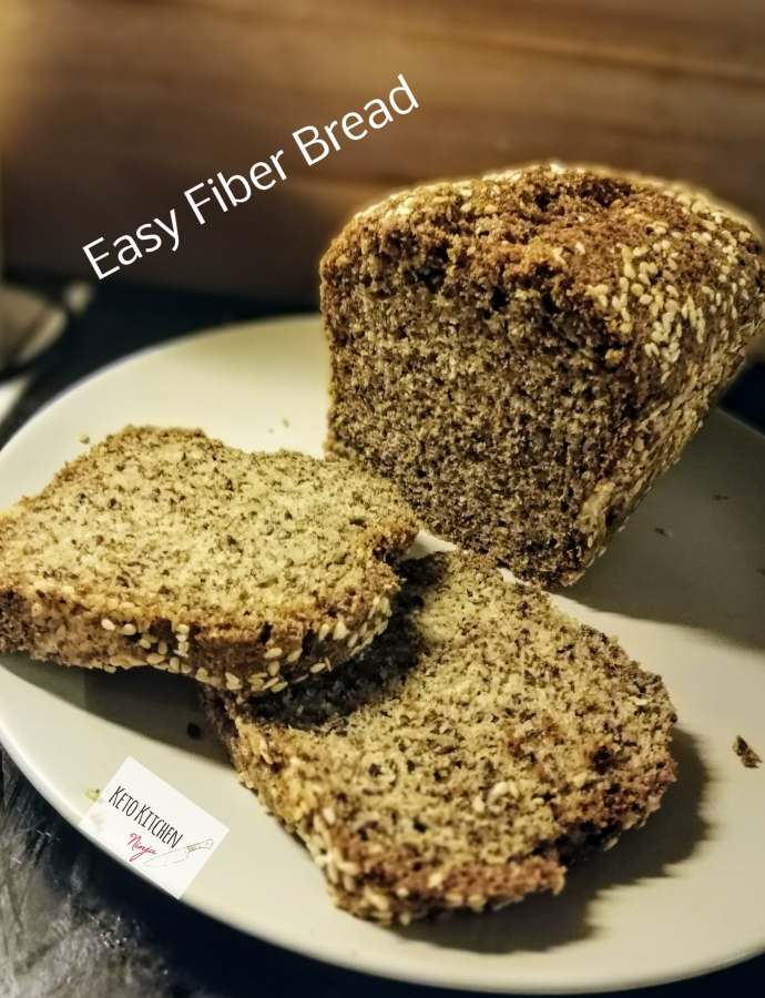 Εύκολο Κέτο Fiber bread