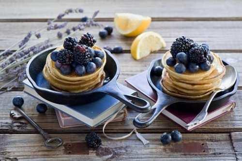 Low Carb Lemon Ricotta Pancakes