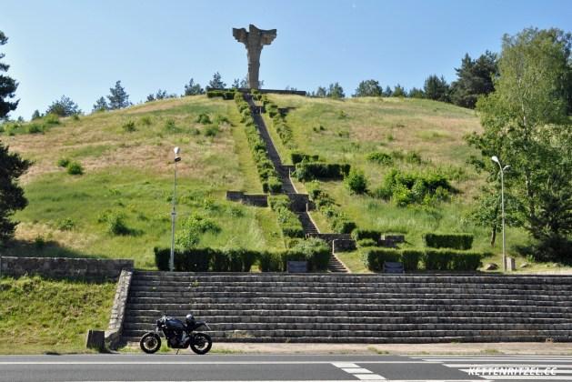 Denkmal für die Schlacht bei Cedynia / Polen auf dem Czcibor-Berg