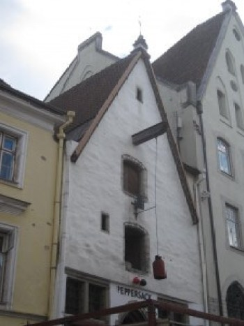 Somewhere in the old part of Tallinn, probably on a hill.