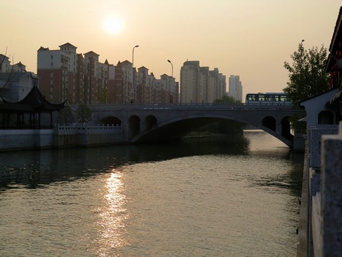 Suzhou sunset. Ciao for now, China.