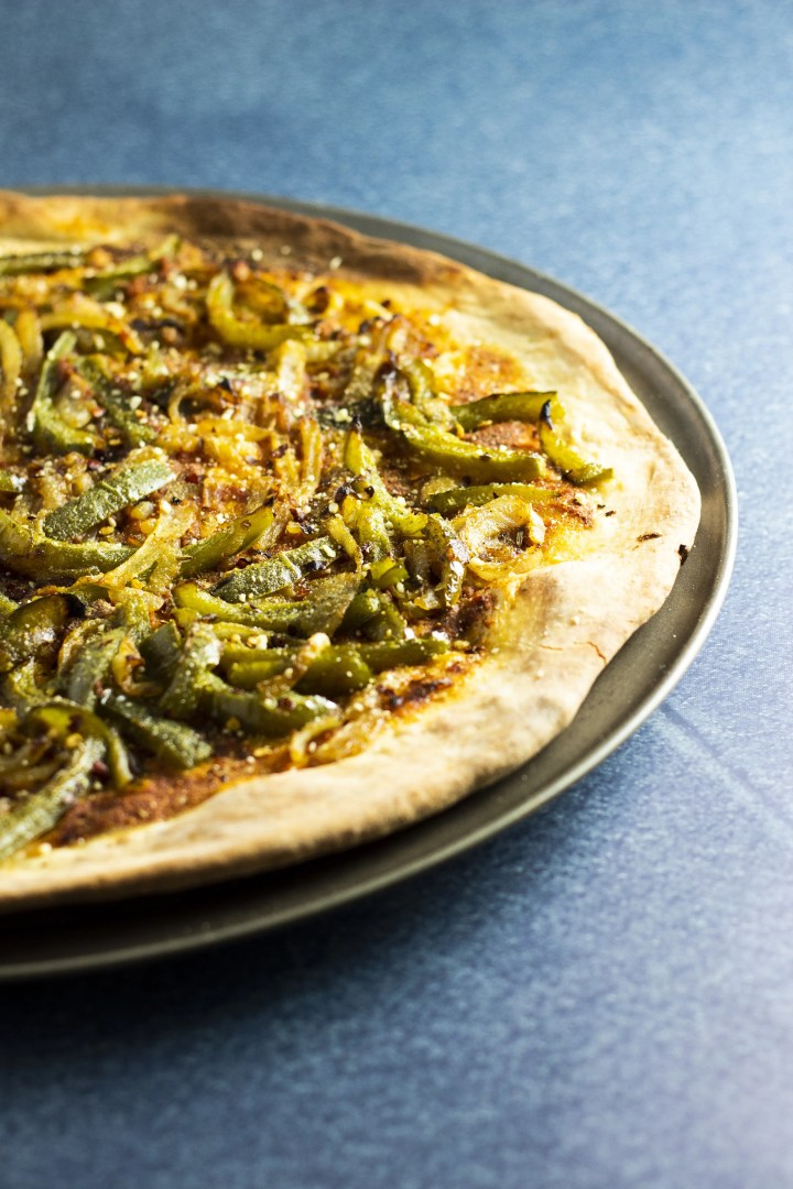 I cannot wait to dig into this loaded veggie pizza!
