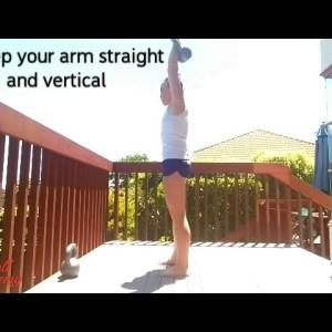 Kettlebell One Arm Overhead Reverse Lunge