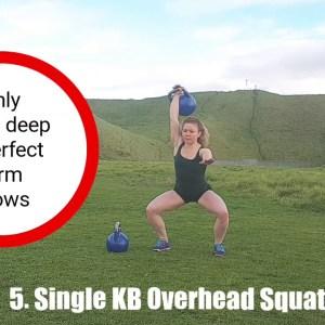 Kettlebell Overhead Squat [Technique + Progressions]