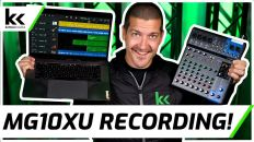 How To Multi-Track Record Using Yamaha MG10XU USB Audio Mixing Console