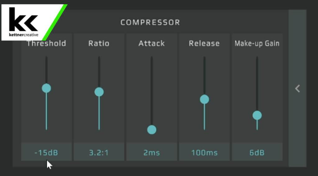 GoXLR SM7B Compressor Settings