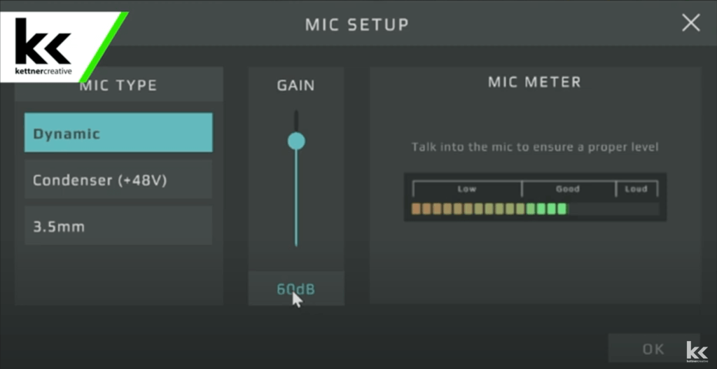 GoXLR SM7B Gain Setting