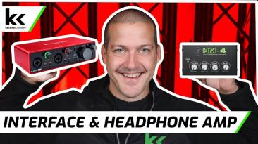 How To Connect Audio Interface To Headphone Splitter / Amp