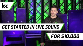 How To Get Started In Live Sound for $10,000   Become an Audio Engineer / Mixer